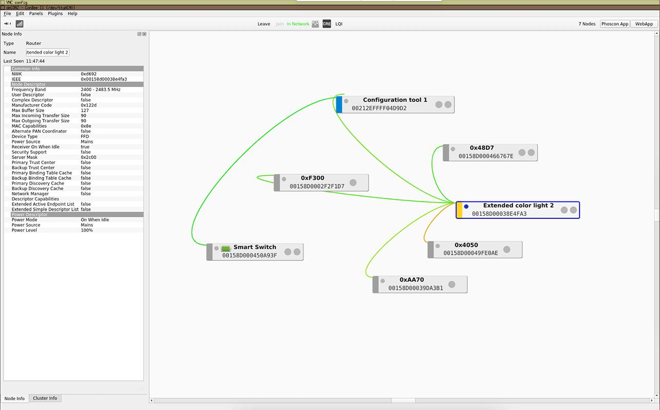 deCONZ - Interfaccia VNC