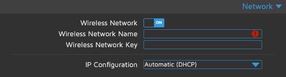 motionEyeOS - Network