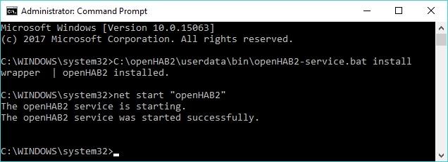openHAB - installazione passo 5