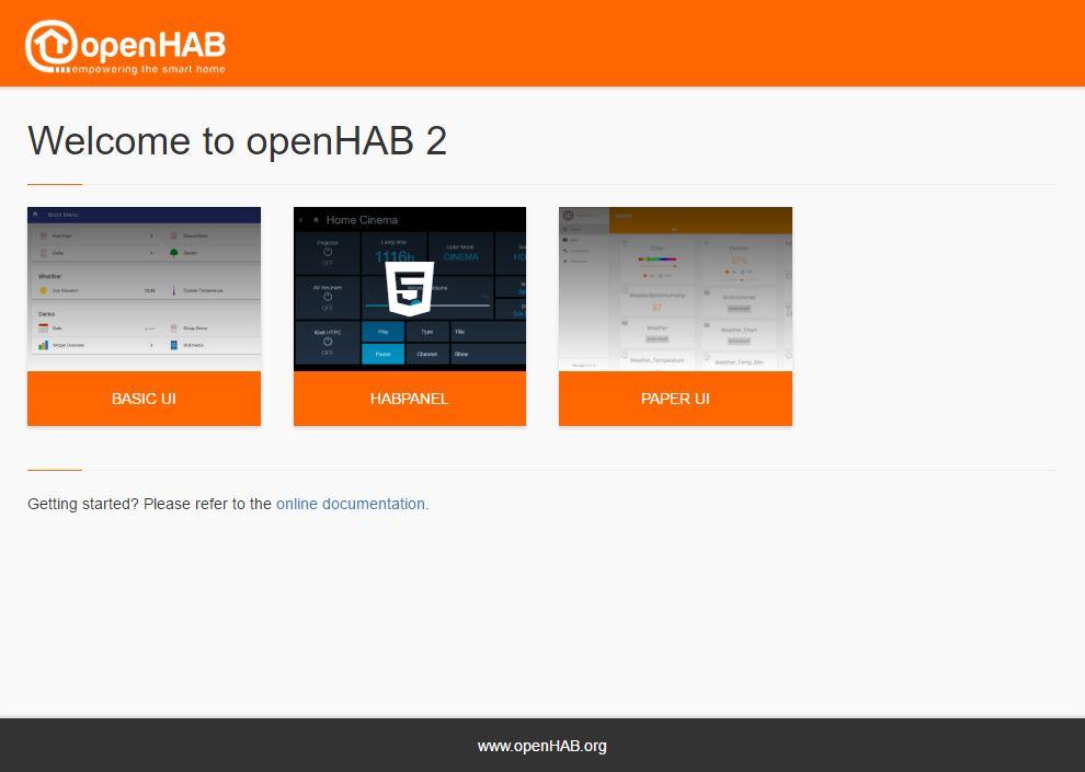 openHAB - primo avvio passo 3