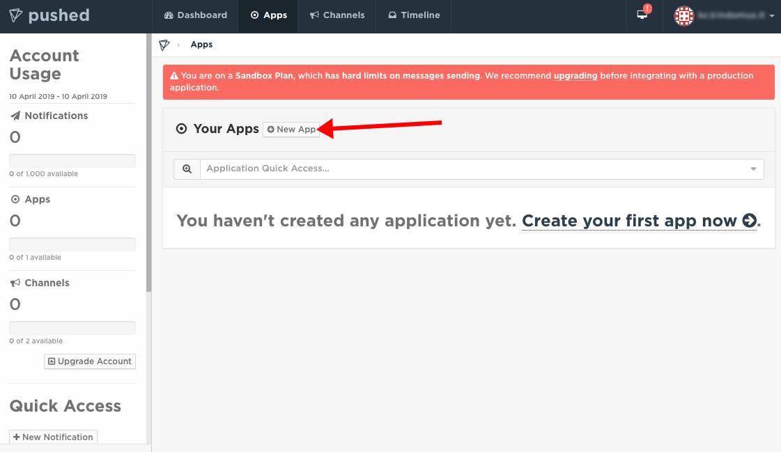 pushed.co - developer new app